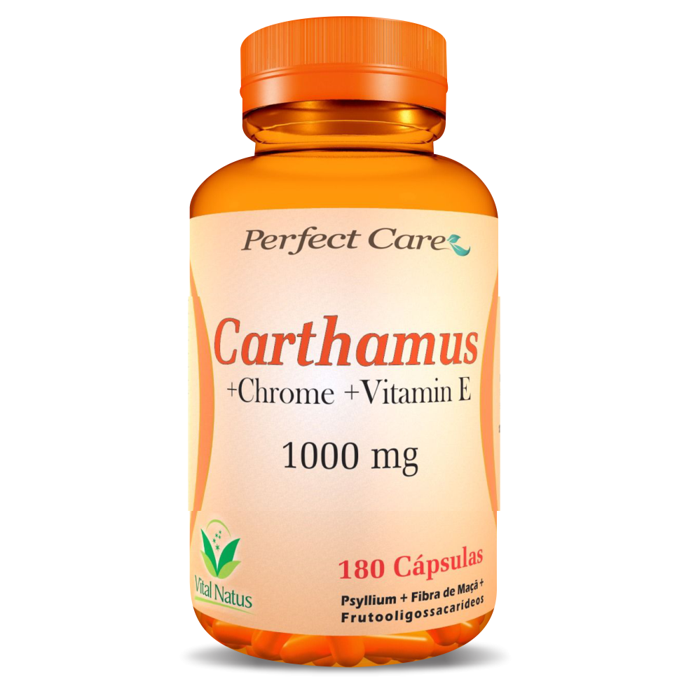 CARTHAMUS + CHROME + VITAMIN E  1G C/ 180 CÁPSULAS