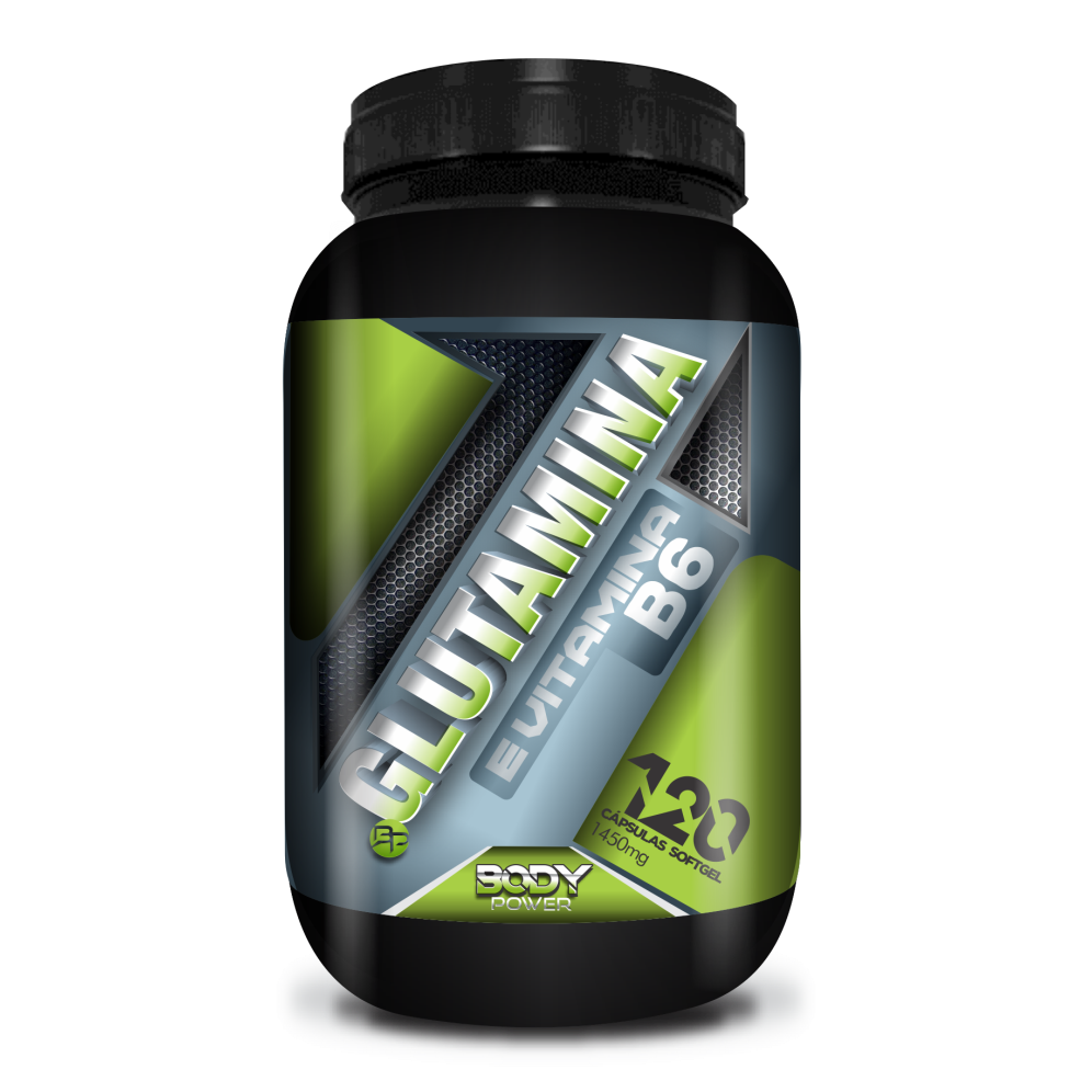 GLUTAMINA E VITAMINA B6 - BODY POWER 120 CÁPSULAS
