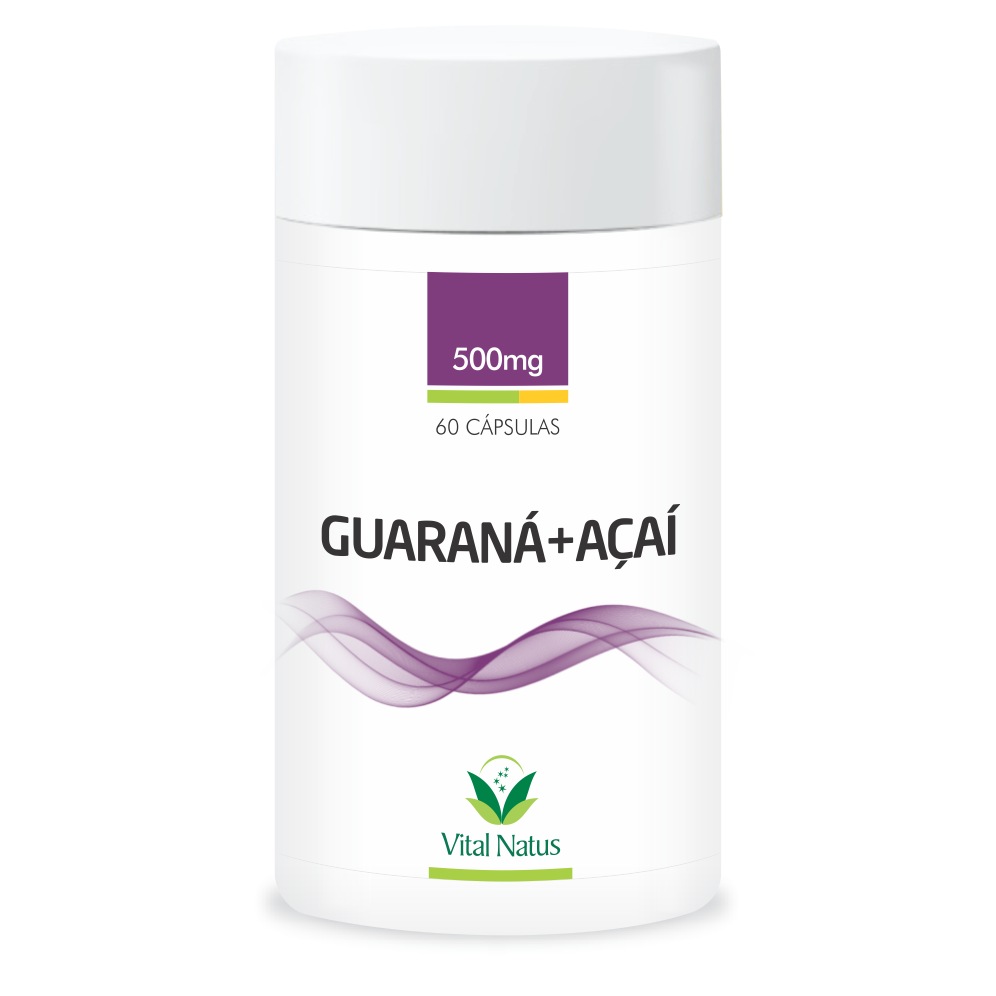 GUARANA + ACAI 500mg  C/60   CAPSULAS