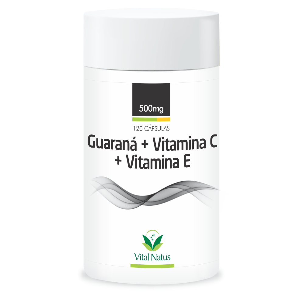 GUARANA+VITAMINA C+ VITAMINA E 500MG C/120 CAPS.