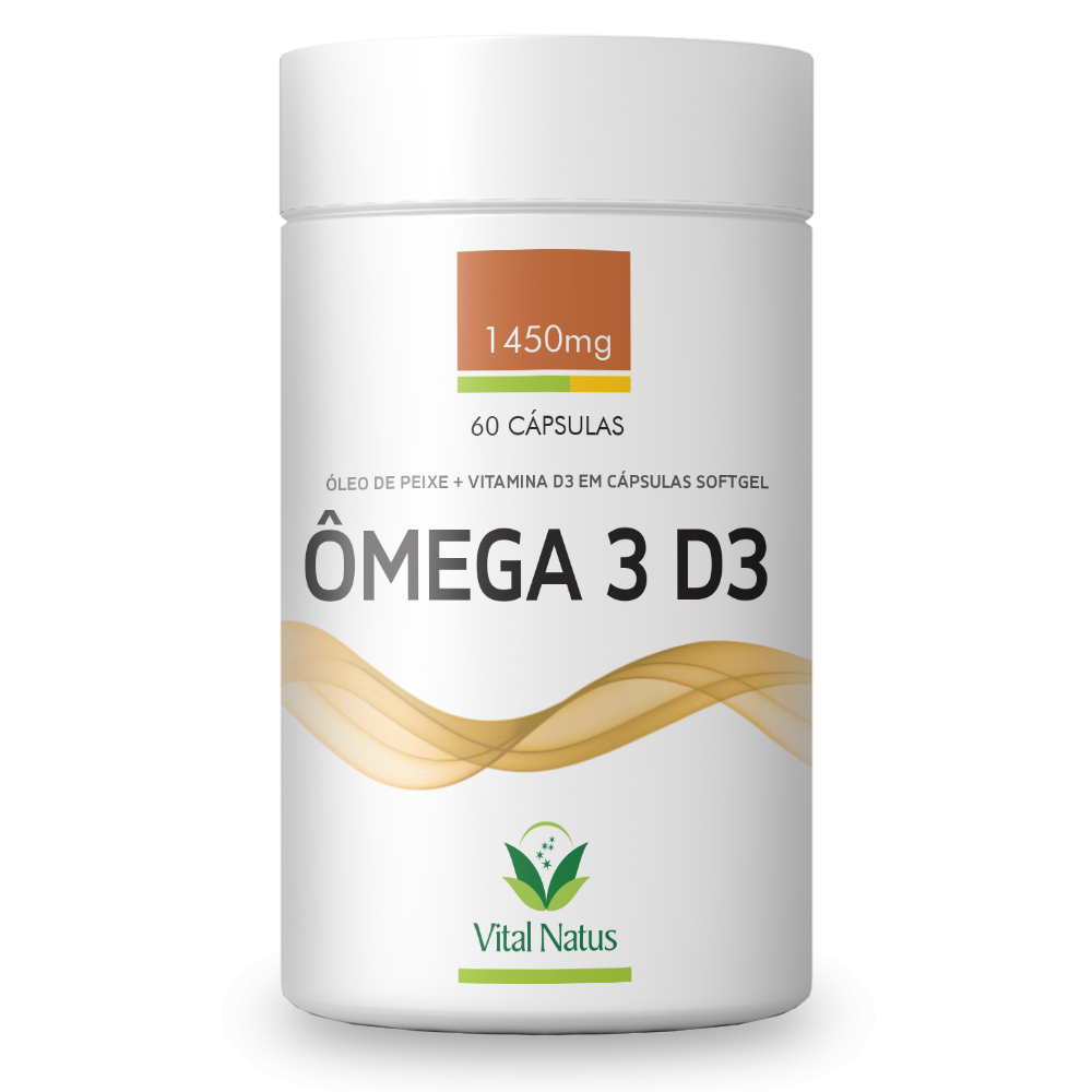 ÔMEGA 3 D3  1450MG 60 CÁPSULAS SOFTGEL